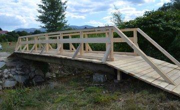 Opravený most cez potok Rosinka