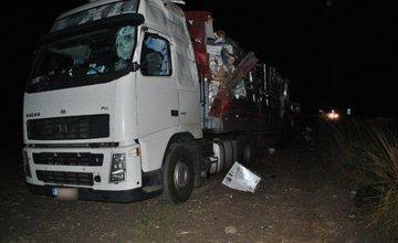 Zrážka dvoch kamiónov pri Martine 28.8.2015