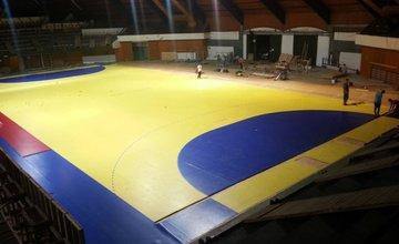 Športová hala na Bôriku - úmyselne zničené osvetlenie