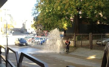 Porucha na vodovodnom potrubí na ulici Murgašova 1.10.2015