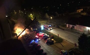 Požiar auta v Rajci 23.10.2015