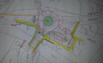 Plánovaný kruhový objazd na Rosinskej ceste