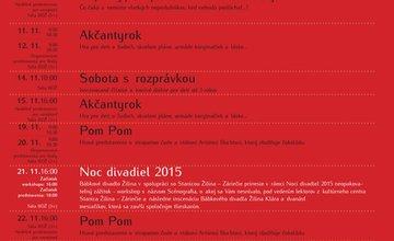 Novembrový mesačný program Bábkového divadla Žilina
