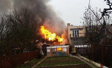 Požiar rodinného domu v Rajci 2.12.2015