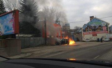 Požiar auta v obci Lietavská Lúčka - 29.12.2015