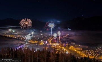 Novoročné ohňostroje v Terchovej 2016