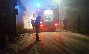 Požiar rodinného domu v Mojši 20.1.2016