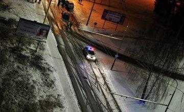 Dopravná nehoda, sídlisko Vlčince - 21.1.2016