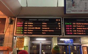 Meškanie vlakov 22.1.2016