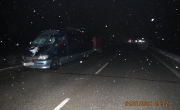 Dopravná nehoda pri Bytči 24.1.2016