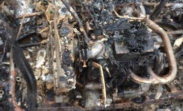 Zhorené auto, po ktorom pátrala polícia
