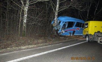 Vážna dopravná nehoda autobusu a osobného automobilu pod Strečnom  28.2.