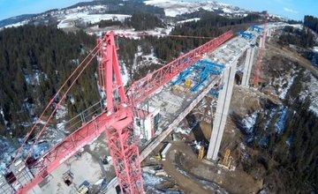 Najvyšší most na Slovensku je spojený - Most Valy 28.02.2016