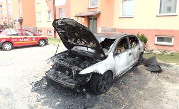 Požiar osobného auta, ulica Kempelenova, Hájik