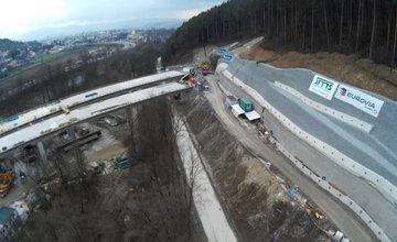 Letecké fotografie výstavby úseku D3 Žilina - Brodno