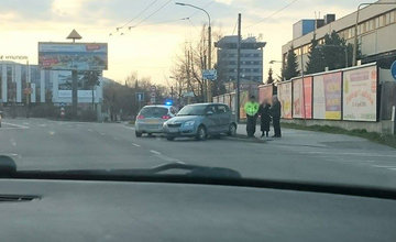 Nehoda na Košickej ulici Žilina 28.3.2016