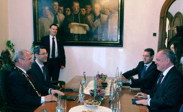 Prezident Andrej Kiska návšteva na Radnici mesta Žilina 30.3.2016