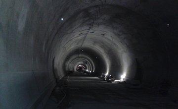 Fotografie z tunela Poľana pri Čadci - 3.4.2016