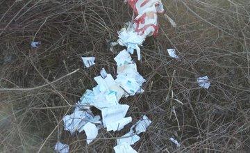 Odpad pri Rajčanke - striekačka a faktúry