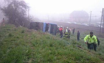 Nehoda autobusu na trase Žilina - Kamenná Poruba - 28.4.2016