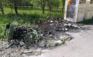 Požiar kontajnerov na triedený odpad, Žilina - Závodie - 1.5.2016