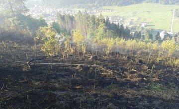 Požiar lesa nad Považským Chlmcom 23.5.2016