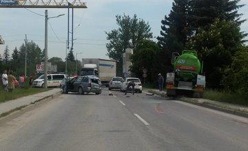 Zrážka osobného auta s nákladným, Lietavská Lúčka 27.5.2016