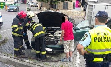 Požiar osobného auta na ulici Kuzmányho - 15.6.2016