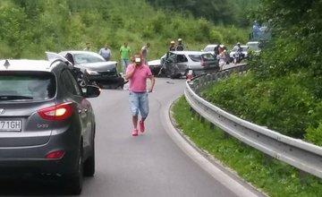 Dopravná nehoda pri obci Čičmany - 8.7.2016