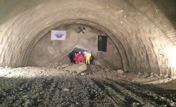 Prerazenie tunela Ovčiarsko 12.7.2016 - druhá tunelová rúra