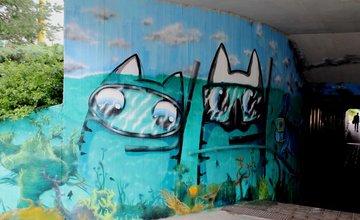 Grafitti a stree-art podchod pri plavárni ulica Vysokoškolákov