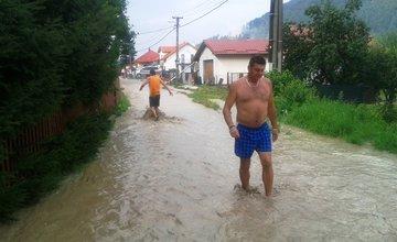 Lokálna povodeň v Žiline - Vranie