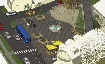 Nové námestie v obci Veľké Rovné