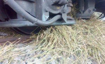 Vykoľajený vlak pri Porúbke 26.8.2016