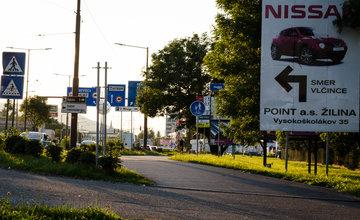 Reklamné pútače Košická ulica 24.8.2016