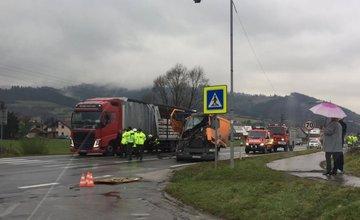 Dopravná nehoda dvoch kamiónov na Kysuciach - 7.11.2016