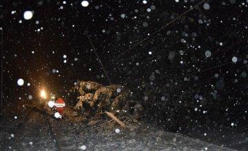 Pred vlak spadol strom, ktorý strhol aj trakčné vedenie a zranil rušňovodiča