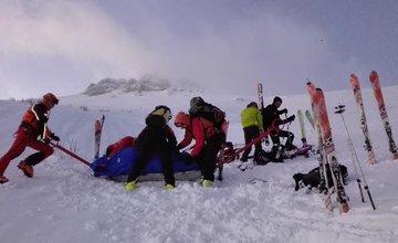 Zranený skialpinista Malá Fatra 29. decembra 2016