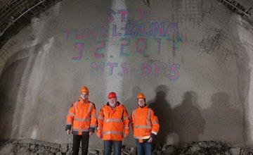 Prerazenie druhej rúry tunel Žilina