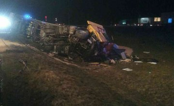 Zrážka dvoch kamiónov 23. februára Krásno nad Kysucou