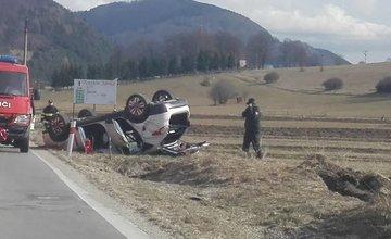 Dopravná nehoda pred obcou Belá - 4.3.2017
