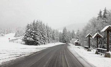 Stav ciest v Žilinskom kraji po snežení - 18.4.2017