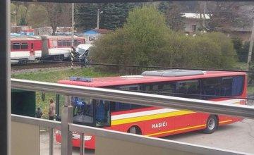 Zrážka vlaku s dodávkou - Raková, Čadca - 25.4.2017