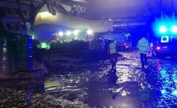 Požiar na tuneli Višňové - 27.4.2017