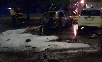 Požiar osobného auta - Hliny 12.6.2017