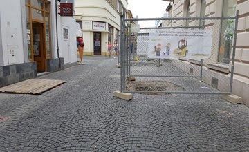 Výkopové práce v centre mesta - 26.6.2017