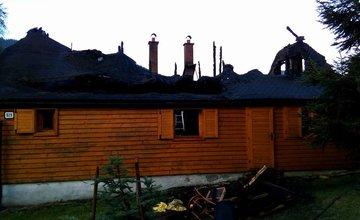 Požiar drevenice v Terchovej - 19.7.2017