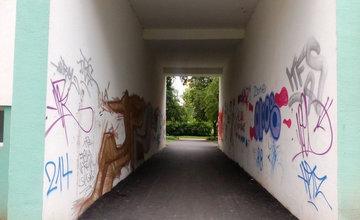Premena nepekných podchodov na sídlisku Vlčince na umelecké diela