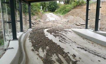 Predčasne otvorený železničný podchod v Hornom Hričove zaplavila voda