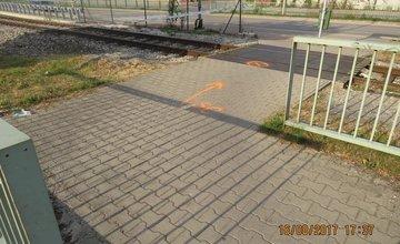 Nehoda na železničnom priecestí - Rajecká cesta 16.8.2017
